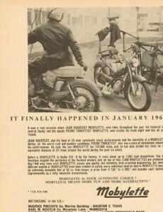 Details about 1964 Mobylette Vintage Motorcycle Ad
