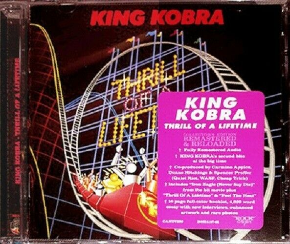 KING KOBRA THRILL OF A LIFETIME CD ROCK CANDY 2016 REMASTER CANDY299