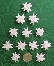 NEW 18 Miniature White German Moravian Froebel Paper Stars Christmas Ornaments