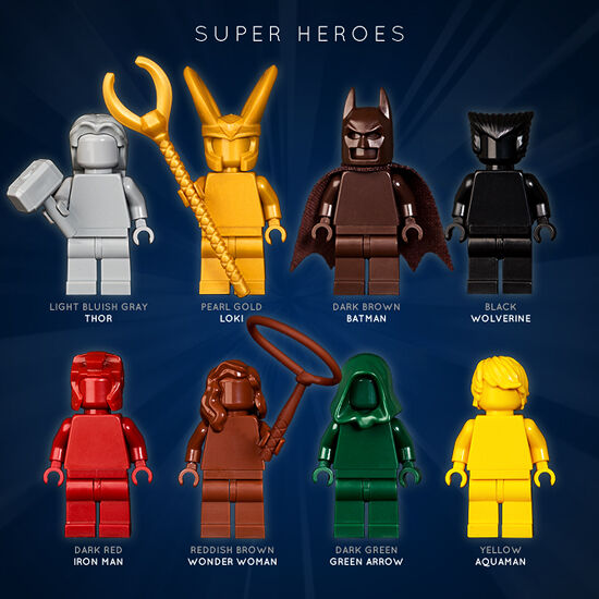LEGO: SET OF 8 SUPER HEROES MONOFIGS