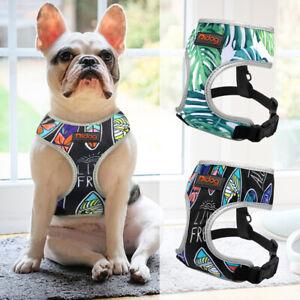 Hundegeschirr-Bulldogge-Brustgeschirr-Reflektierend-Gepolstert-Verstellbar-S-M-L
