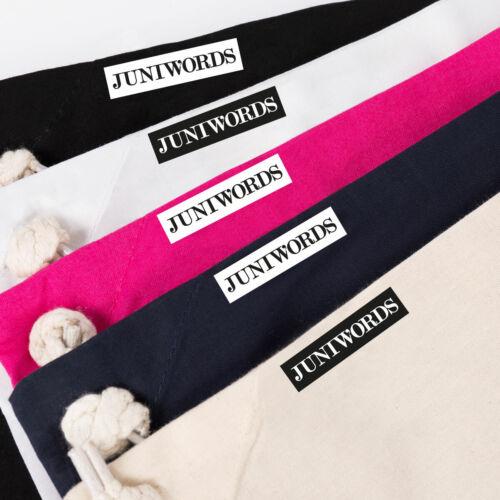 """Farben Tasche JUNIWORDS Turnbeutel Motiv /""""Life is no sugarlicking/"""" versch"""