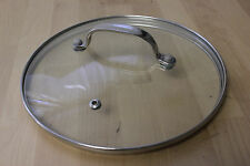 "Glass Replacement Lid Metal Handle Rim Steam Hole 7 ¾ "" Diameter"