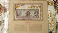 Most Treasured Banknotes Venezuela 1986 10 Bolivares P 61a UNC prefix D