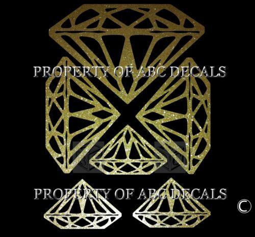 Vrs 6 Stück Teile Diamant Strass Juwelen Stein Metall Auto Aufkleber Wand