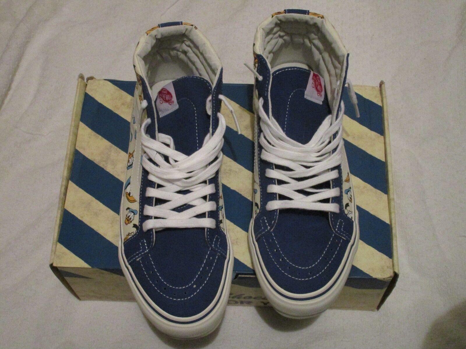 Vans OG Sk8-Hi LX Donald Duck True bluee VN-0OZE8KL Size 10 Sneakers