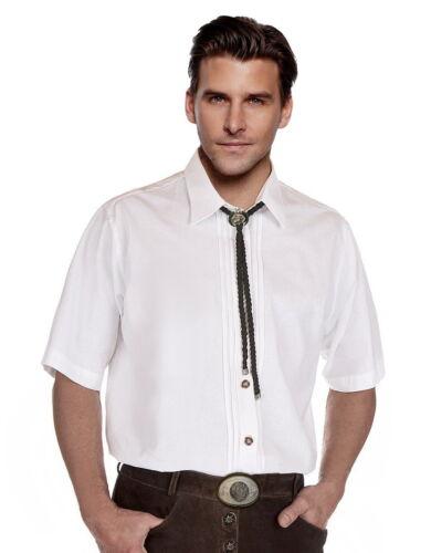 TRACHTEN Camicia uomo Camicia Camicia Da Uomo A Maniche Corte Comfort PURO COTONE BIANCO