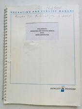 HP 8016A Word Generator Preliminary Operating & Service Manual P/N 08016-90001