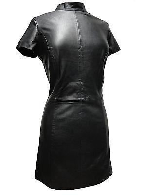MILLY Ricano Lederkleid Kleid Lamm Nappa Echtleder Schwarz XS S M L XL 2XL NEU