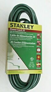 25-Feet Yellow Stanley 33257 Grounded Outdoor Extension Power Cord