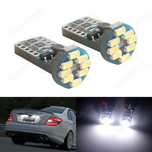 2x W5W T10 12 SMD Ampoules Sans Erreur Blanc LED Plaque d'immatriculation CANBUS