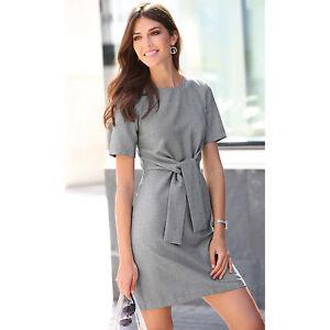 Robe-courte-manches-courtes-a-pinces-femme-140341