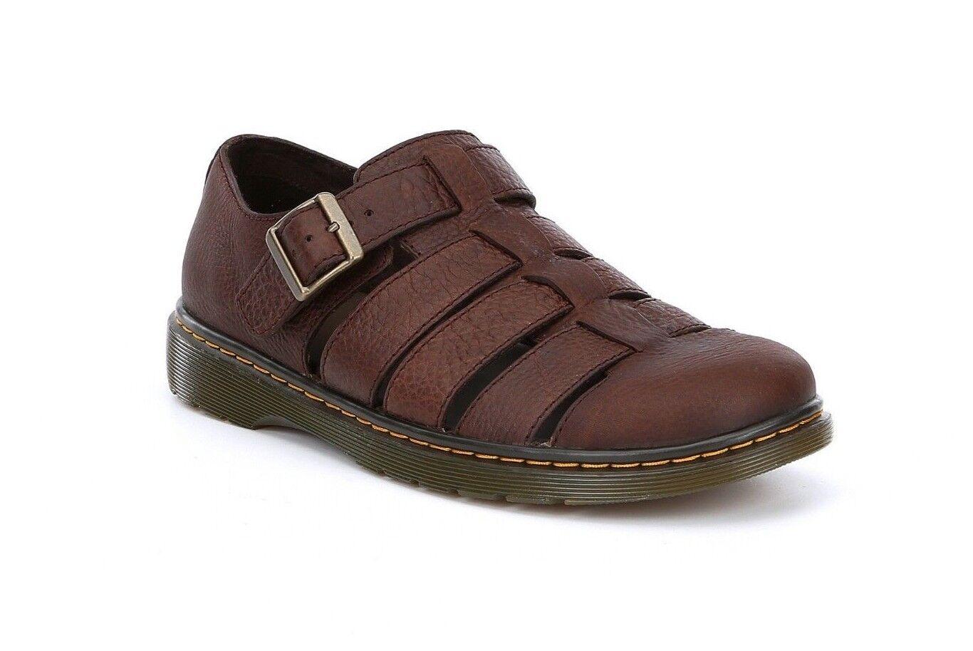Dr Martens Fenton Men's U.S. Size 11M Brown Leather Fisherman Grunge Sandals New