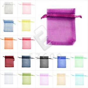 25-50-Pcs-ORGANZA-Wedding-Favour-GIFT-BAGS-Jewellery-Candy-Pouches-17-Colors