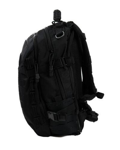 Black Laser Cut 20 Liter Tactical Backpack Molle Hiking Rucksack for Outdoors