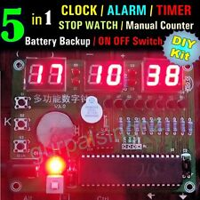 5in1 6 Digit LED Electronic Digital Clock DIY Kit Parts Components AT89S52