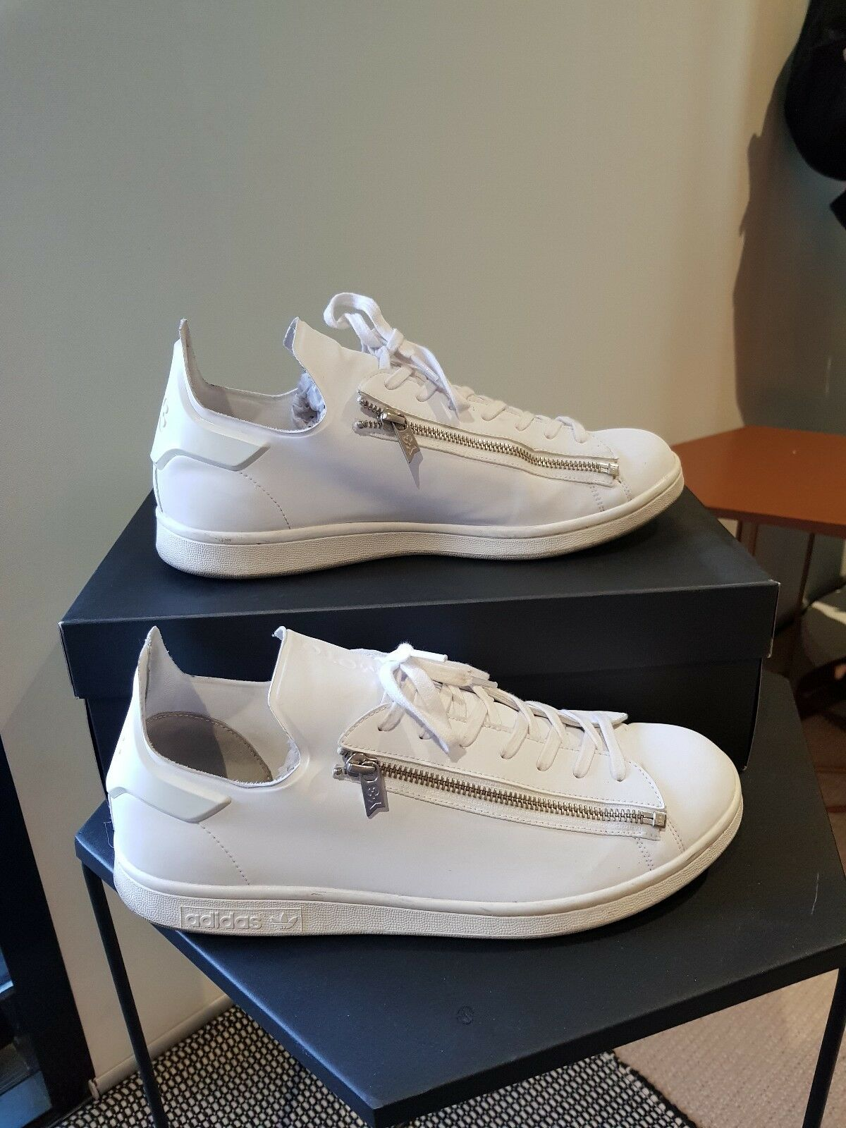 Adidas Y-3 Stan Smith Zip, Triple White, 11.5US, Good Used Condition