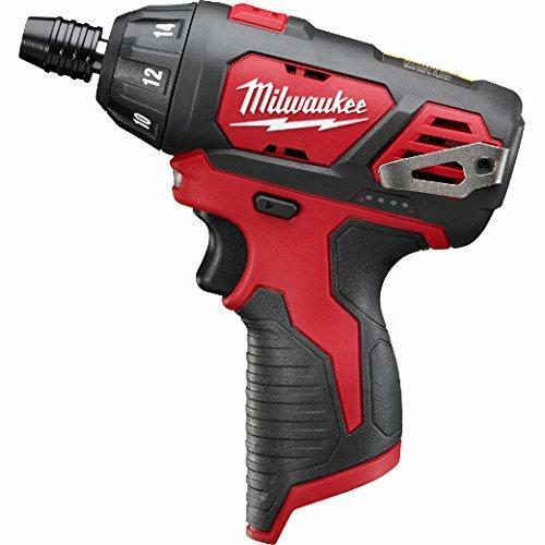 Milwaukee 2401-20 M12 12-Volt Lithium-Ion Cordless 1//4 in Hex Small Red