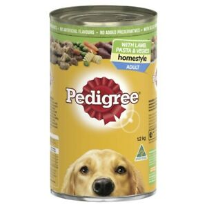 Pedigree Homestyle Lamb Pasta & Vegies Adult Wet Dog Food Can 1.2kg