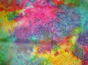 Hoffman Batik Bali Chops Dots 885-130-Multi Batik Cotton Fabric BTY