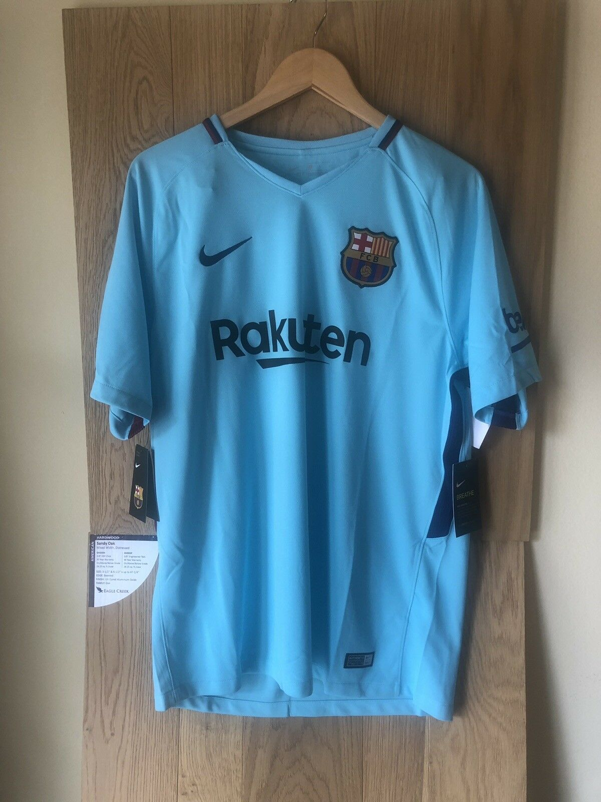 74877a34b NIKE MENS FC BARCELONA STADIUM JERSEY AWAY KIT 17 18 SZ. Sz Large 847254 484