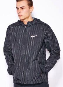 Nike-Racer-Fuse-Running-Jacket-Ultralight-Men-039-s-Jacket-Black-747113-010-SIZE-XL