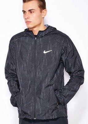 Nike Racer Fuse Running Jacket Ultralight Men's Jacket Black 747113-010 Size Xl Activewear Clothing, Shoes & Accessories