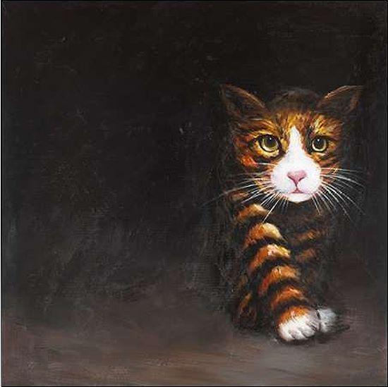 Atelier B  Discreet Cat.Keilrahmen-Bild Leinwand Katze Katzen
