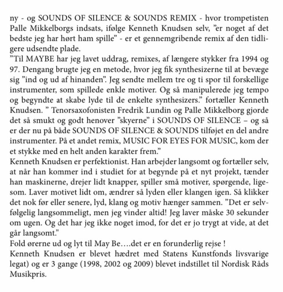 Kenneth Knudsen: May Be, jazz