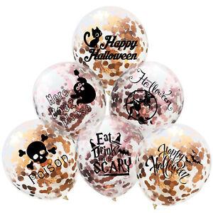 30-5cm-Halloween-Dore-Rose-Confettis-Rempli-Ballons-Feuille-Mariage-Anniversaire