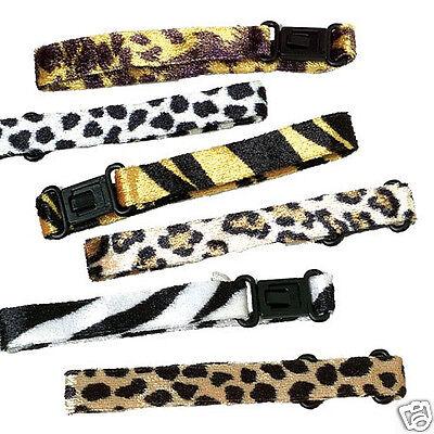12 Wild Animal Print Clasp Bracelet Safari Zoo Party Goody Loot Bag Favor Supply