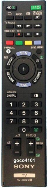 RMGD029 RM-GD029 ORIGINAL SONY REMOTE CONTROL KDL50W670A KDL50W700A = RMTTX300E