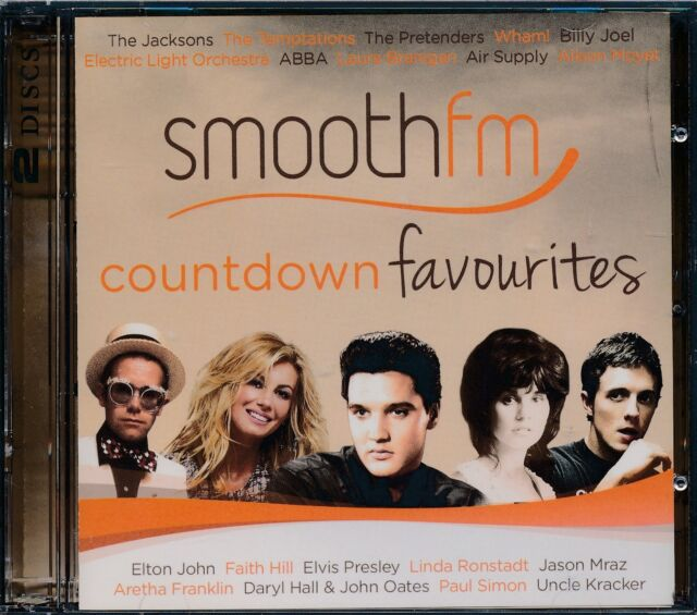 Smooth FM Countdown Favourites CD 2-disc NEW Elvis Presley Wham Air Supply Mraz