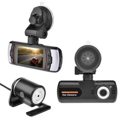 2.7'' HD 1080P Video Recorder Car DVR Dual Lens Car Dash Camera+Rear View Cam C