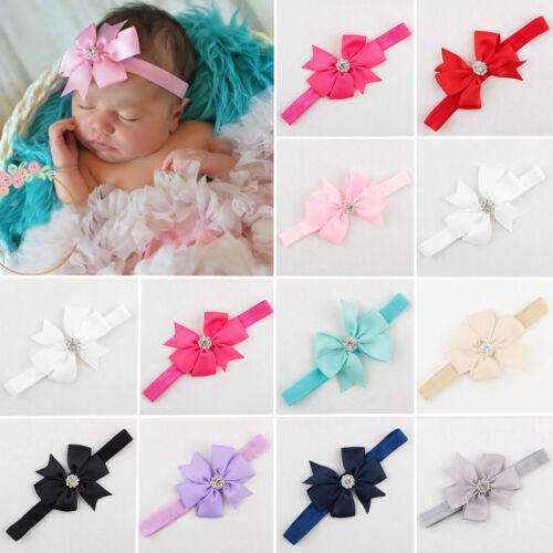 Baby Toddler Flower Girl Bow Hairband Soft Headband Hair Kids Headdress Knot HOT