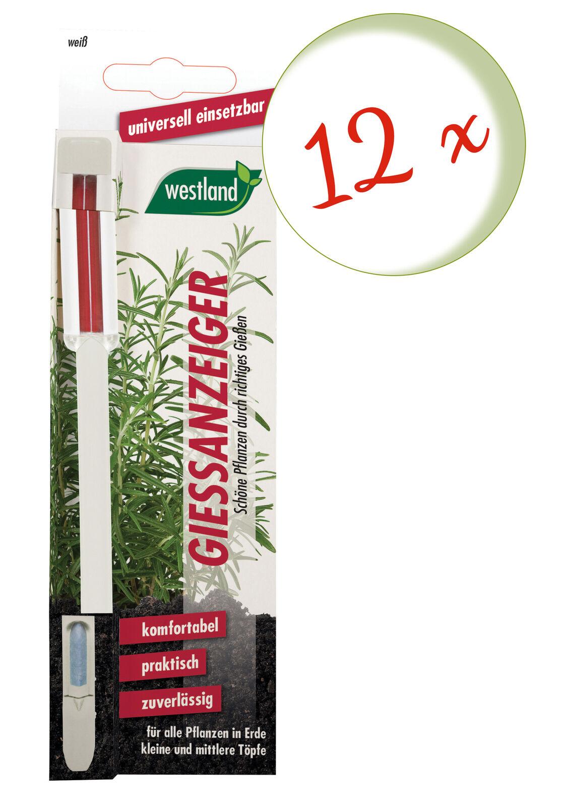 Savings Set: 12 X Westland Indicator For Flower Soil, 16 CM White