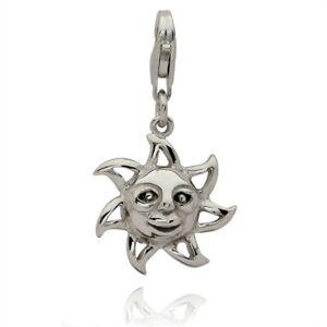 Rafaela-Donata-Damen-Charm-Anhaenger-echt-Silber-925-Sterlingsilber-Motiv-Sonne