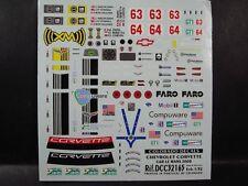 DECALS 1/32 CHEVROLET CORVETTE C6R #63 ou #64 LE MANS 2008  - COLORADO 32165