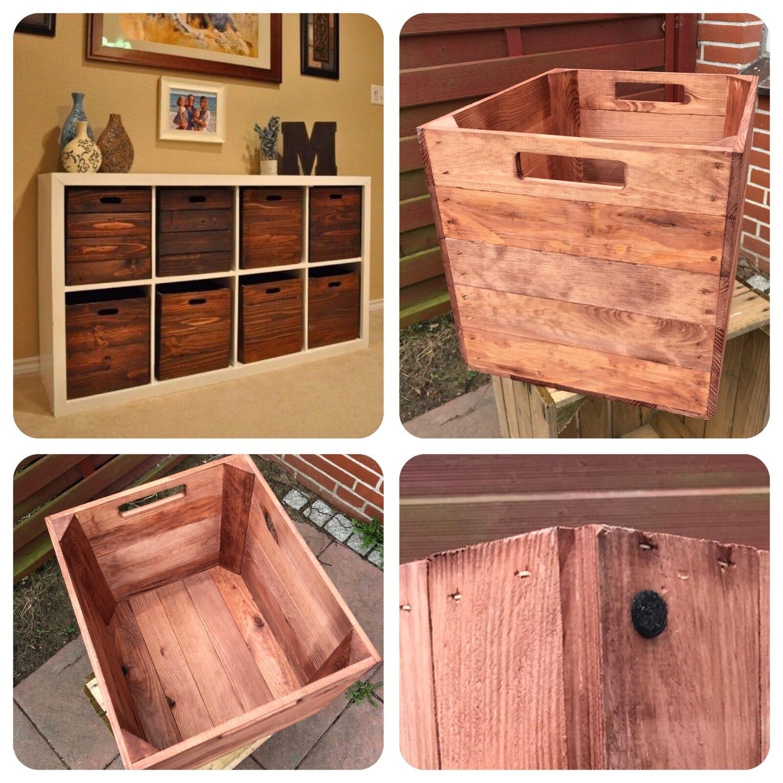 4x used Apfelkisten Holzkisten Weinkisten Obstkisten Vintage Kallax Kiste