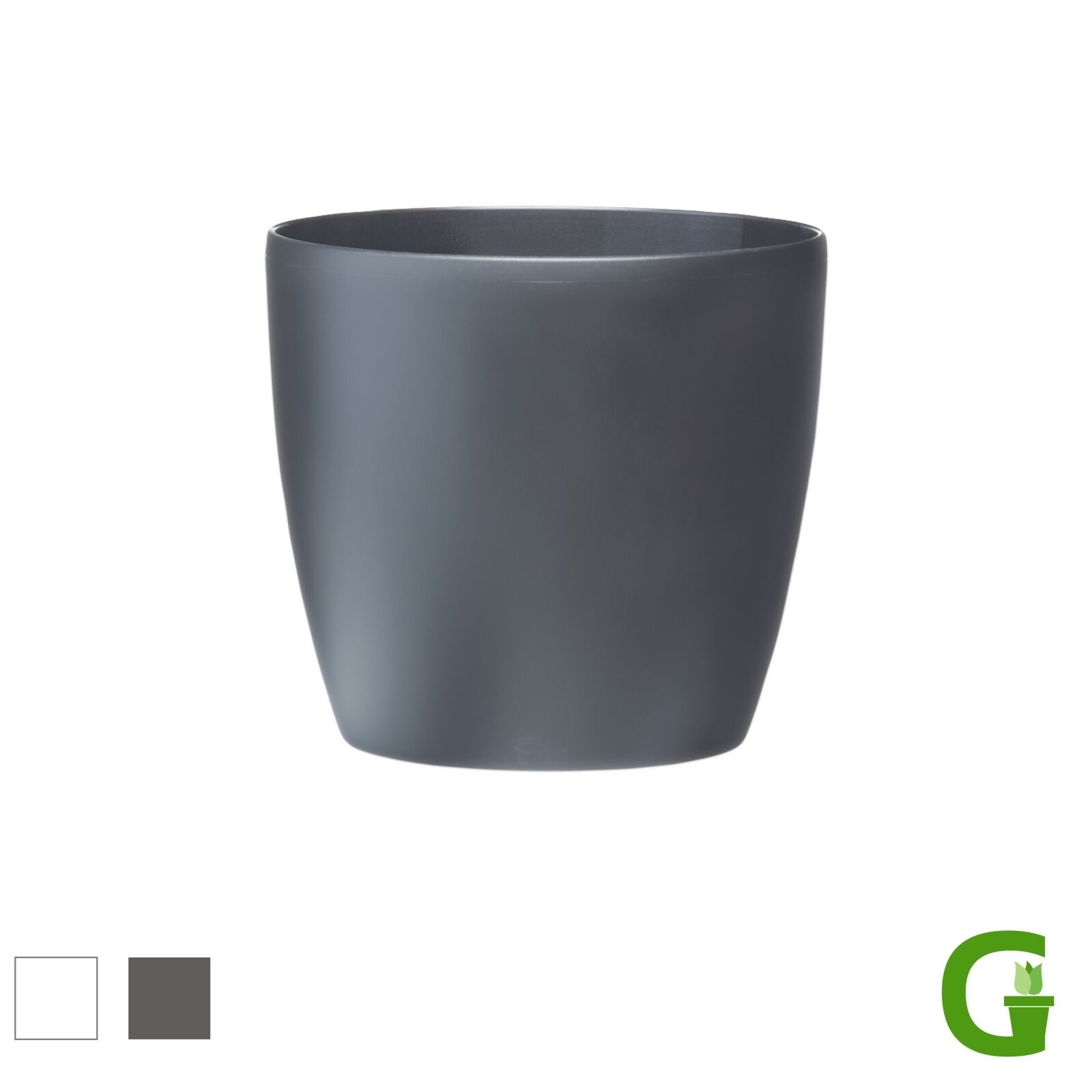 elho brussels round wheels gro er blumen bertopf mit rollen blumentopf modern ebay. Black Bedroom Furniture Sets. Home Design Ideas