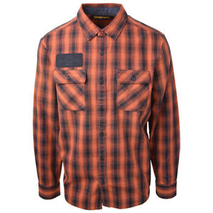 Harley-Davidson-Men-039-s-Made-By-Milwaukee-Wisconsin-L-S-Woven-161