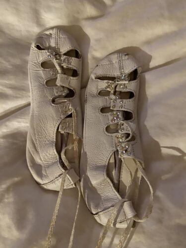 Irish Dance Soft Shoes White Wedding Size 4