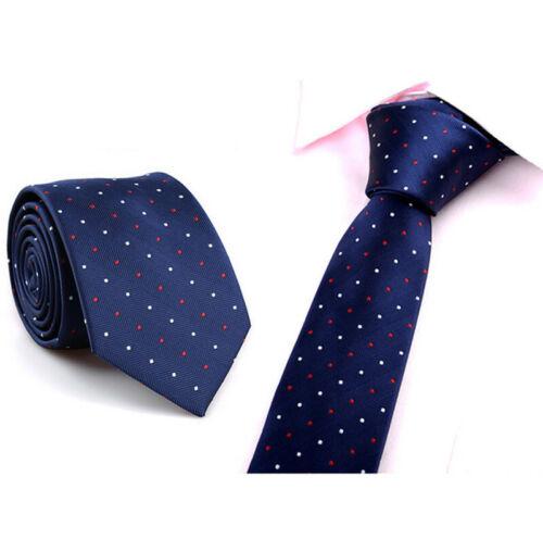 Casual Slim Plain Mens Solid Skinny Neck Party Wedding Tie Necktie
