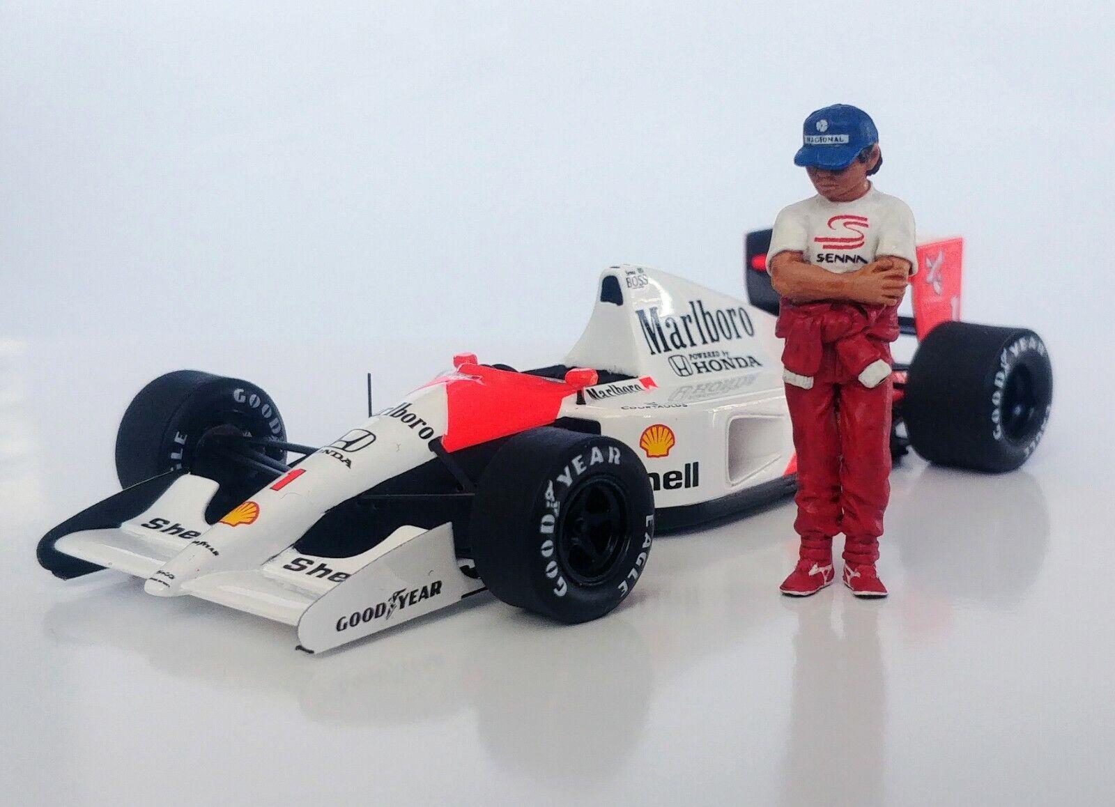 1 43 Ayrton Senna Marlboro McLaren Estatuilla Figura de Pie 1988 1991 1992 1993