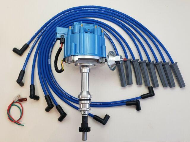 Ford 351c 351m 400 429 460 Hei Distributor   Blue 8 5mm Spark Plug Wires Usa