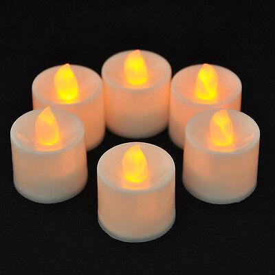 6PCS Flickering Flameless Smokeless LED  Tea Light Candles Wedding Xmas +Battery