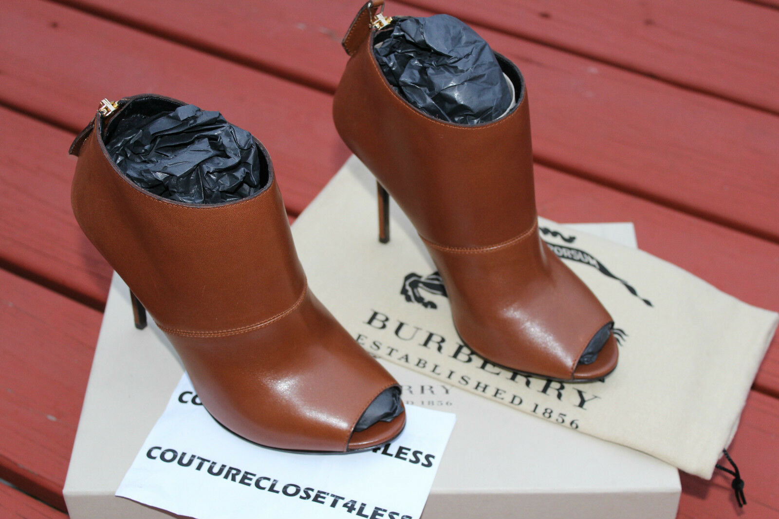 BURBERRY CALLUM BOOT CHESTNUT BROWN us 750