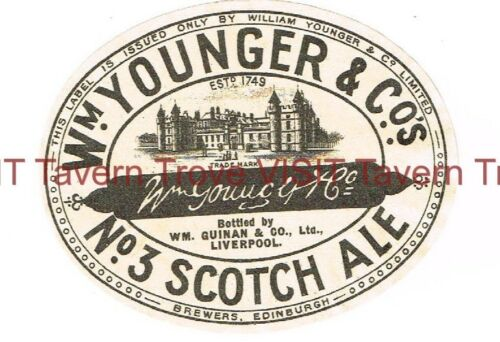 Wm Younger No. 3 Scotch Ale Bottled in Liverpool Brewers Edinburgh Scotland