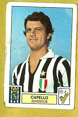 CALCIATORI PANINI 1971//72 NEW JUVENTUS CAPELLO figurina