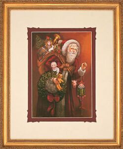 Christmas-Past-by-Gre-Gerardi-Santa-Clause-Open-Edition-Framed-Ready-To-Hang